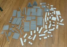LEGO Lot Of 100 Mixed Dark Gray Blue Light Gray BLOCKS