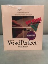 Word Perfect For Windows Version 5.2 Factory Sealed With ExpressDocs Included