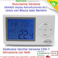 """CRONOTERMOSTATO DIGITALE BRAVO DA PARETE 93003100 DISPLAY RETROILLUMINATO 3"""""""
