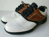 FootJoy Mens Contour Series Golf Spikes White 54108 Two Tone Lace Up 12 Wide