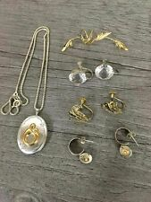Sterling Silver Mixed Jewelry Lot Vermeil Earcuff