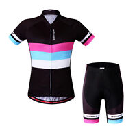 New Woman Cycling Short Sleeve Bike Clothing Bicycle Sports Wear Jersey + Shorts