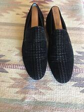Lanvin Velvet Loafers Size 9, Black