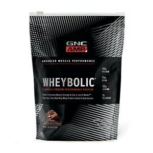 GNC AMP Wheybolic-Chocolate Fudge 21.69oz EX:07/2021