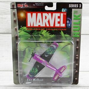 Maisto Marvel Series 2 Incredible Hulk F6F Hellcat Die Cast Airplane