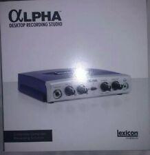 LexiconAlpha Studio USB Audio Interface