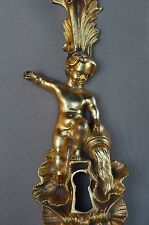 French Decor Bronze Putto Pouring Water Door Back Plates, Knob 18th.c