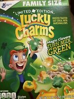 🍀General Mills-Limited Edition~Lucky Charms Cereal 19.3oz Box-Magic Clovers