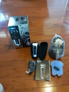 Braun Series 8 Wet/Dry Electric Shaver w/ Clean Charge Station Bundle - New Open
