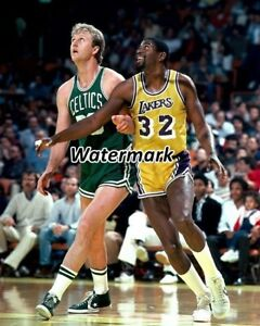 NBA 1986 Celtics Larry Bird Lakers Magic Johnson Game Action Color 8 X 10 Photo