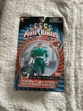 Power Rangers Turbo Triple Action Green Turbo Ranger New Factory Sealed 1997