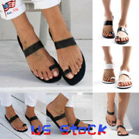Summer Women Sandals Fashion Shoes Open Toe Slip On Ladies Flip Flops Beach US