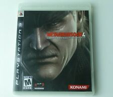 MetalGearSolid 4 Guns Of The Patriots Playstation 3 Ps3 Good Condition Tested