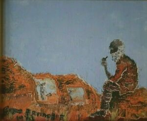 Gayle and Bernice Battarbee - two oil paintings, Central Australia.
