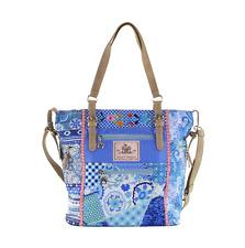 High Shopper, Large Blue, Yucatan, Happiness, Tasche