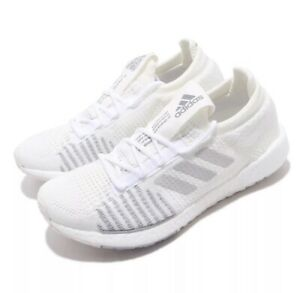 adidas Pulseboost HD Women's Running Shoes White/Gray NEW FU7344 Size 12