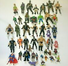 Lot Of 40 Toy Action Figure Super Hero Mixed Lot Wrestling Tmnt Halo Star Wars