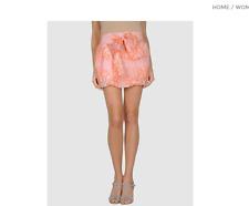MIRIAM OCARIZ Mini Flouncy Bubble Silk A Line Skirt Peach US 0/2 ES 36 YOOX