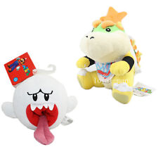 super mario Bros. Boo Ghost & Bowser Jr. Junior Koopa Plush Toy Doll New/wtag