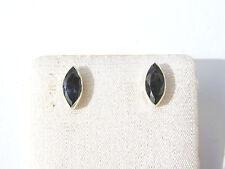 Iolith facett. Ohrstecker 9,5x4,5 mm 925 Silber E6286