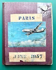 More details for 1957 british european airways london to paris scrap book 150 pages handwritten