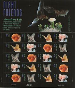 2002 37 cent Bats full Sheet of 20 Scott #3661-3664, Mint NH