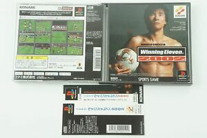 Winning Eleven 2002 PS1 Konami Sony Playstation 1 Spine From Japan