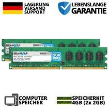 4GB 2x2GB DDR2 RAM DIMM PC2-6400U 2Rx8 800MHz PC Computer Speicher CL6 Intel AMD