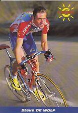CYCLISME carte cycliste STEVE DE WOLF équipe COFIDIS 1998
