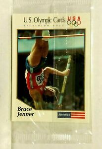 1991 Bruce Jenner Showing USA Olympic Sealed Cards Pack (5 Cards) -  Mint Cond