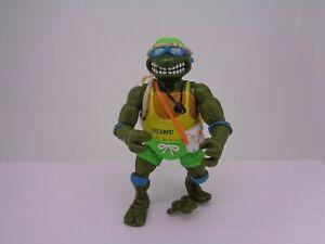 Vintage 1992 Action Figure Lifeguard Leonardo- Teenage mutant ninja turtles TMNT