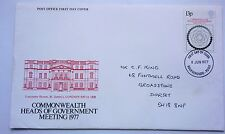 GREAT BRITAIN FDC COMMONWEALTH HEADS OF GOVERNMEMT MEETING 1977