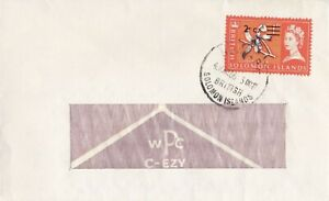BC667) Br. Solomon Is. 1966 2C on 1D Cover