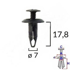 Türverkleidung Befestigung Clips Türpappen Verkleidung Ford Schwarz 10 Stk 58211