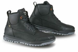 Falco Patrol Black Motorcycle Motorbike Urban Waterproof Leather Boots All Sizes