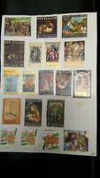 STAMP COLLECTION  ON  PAGE  - Great Mix of issues.(z7.)