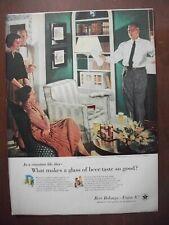 1956 Vintage Original Magazine Ad Beer & Ale Dad Rehearses His Speech Crockwell