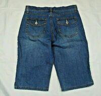 Gloria Vanderbilt Women's Juniors Sz 6 Jean Shorts Blue Curvy Medium Wash