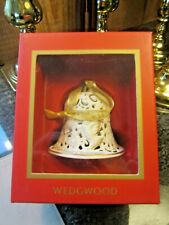 New In Box Wedgwood PoRcelain Our First Christmas Bell Ornament Nib