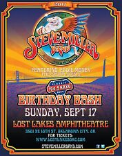 STEVE MILLER BAND /EDDIE MONEY 2017 OKLAHOMA CITY CONCERT TOUR POSTER-Blues Rock