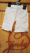 baby girls next white trousers size 3/6 months