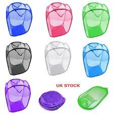 Laundry Basket Pop-Up Mesh Bin Tidy Storage Toys Fold-able Cloth Washing Bag NEW