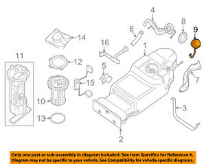 NISSAN OEM 09-11 Frontier 4.0L-V6 Fuel System-Fuel Filler Cap 172519BA0A