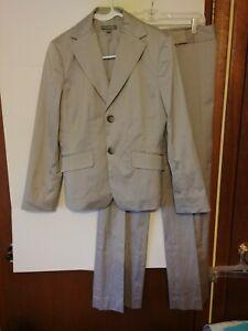 ANN TAYLOR Women 2 PC Pant Suit, Size 4/6, Pinstripe, #871