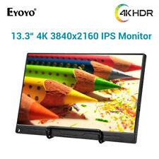 "Eyoyo 13.3"" 4K HDMI DP Monitor Screen for Raspberry Pi Xbox 360 PS3 PC Home Use"
