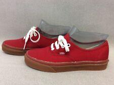 Men Vans Authentic Red/Gum Bottom Size US 5.5 TT20