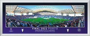 2021 Champions League Final Chelsea v Man City Panoramic Framed Print Range