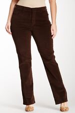 NWT NYDJ Not Your Daughters Jeans Marilyn Straight GANACHE Corduroy Size 18