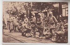 71369 Feldpost Ak Warschau Ujastower Allee mit Deutschen Truppen 1916