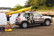 Heavy Duty Sit On Top Kayak Canoe Roof Rack Folding Double J Bars & Straps